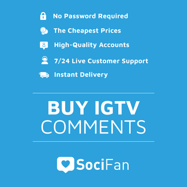 Buy Instagram IGTV Comments